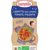 Babybio - 2 bolsCarotte Tomate Polenta dès 12m 2 x 200g