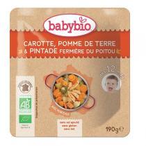 Babybio - Doypack carotte pomme de terre et pintade fermière - 190g