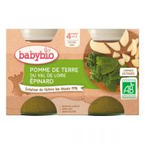 Babybio - Petits potsPomme de terre Epinards 2 x 130g - Dès 4 mois