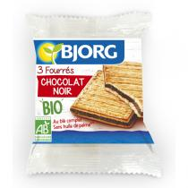 Bjorg - 3 biscuits fourrés chocolat noir - 75g