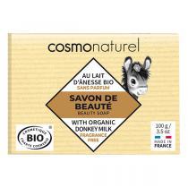 Cosmo Naturel - Savon lait d'ânesse Karité sans parfum 100g