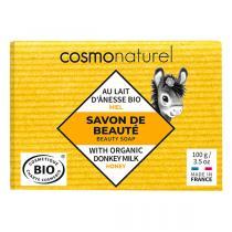 Cosmo Naturel - Savon lait d'ânesse Miel sans parfum 100g