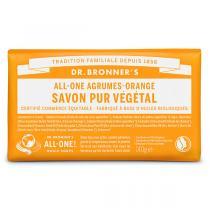 Dr Bronner's - Pain de savon Agrumes Orange 140g