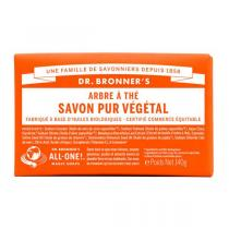Dr Bronner's - Pain de savon arbre à thé 140 g
