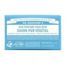 Dr Bronner's - Pain de savon bébé sans parfum 140 g