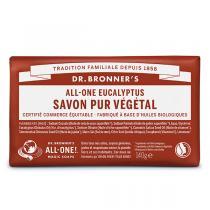 Dr Bronner's - Pain de savon Eucalyptus 140g