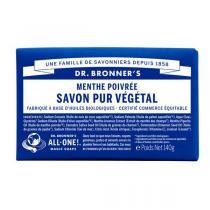 Dr Bronner's - Pain de savon menthe poivrée 140 g