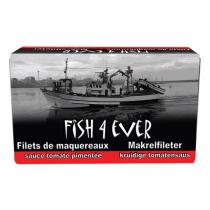 Fish4Ever - Filets de maquereaux sauce à l'ail bio - 125 gr
