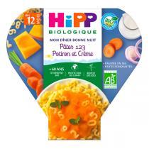 Hipp - Pâtes 123 Potiron et Crème 230g