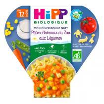 Hipp - 1 assiette pâtes animaux du zoo aux légumes dès 12 mois 230g