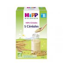HiPP - 100% Céréales - 5 céréales 250g