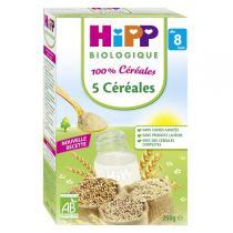 Hipp - 100% Céréales - 5 céréales Bio 250g