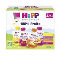 Hipp - Gourdes Multipack 4/6 mois 8x90g