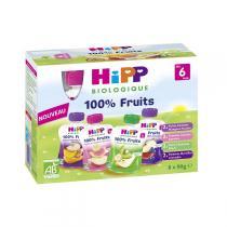 Hipp - Gourdes Multipack 6 mois 8x90g