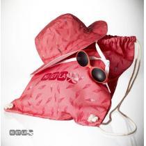 Ki ET LA - SUNSET Chapeau + Lunettes de soleil Rose