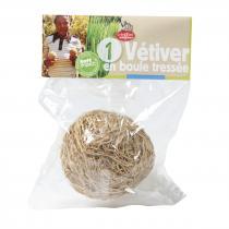 La Droguerie écologique - Boule Vétiver tressée 7 cm