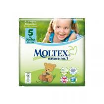 Moltex - Pack 4 paquets Couches Eco-Junior T5 Moltex 11-25kg