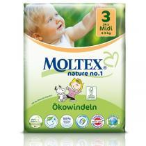 Moltex - Pack 4 paquets Couches Eco-Midi T3 Moltex 4-9 kg