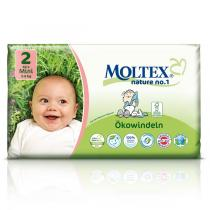 Moltex - Pack 4 paquets Couches Eco-Mini T2 Moltex 3-6 kg