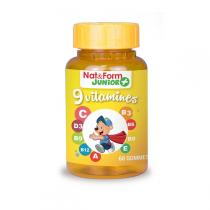 Nat & Form - Ours+ 9 vitamines 60 oursons