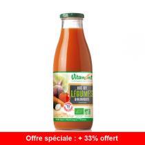 Vitamont - Offre Jus de Légumes Bio 75cL + 33cL gratuits