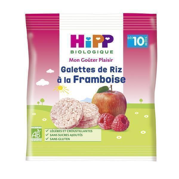 HiPP - Galettes de riz a la framboise 30g