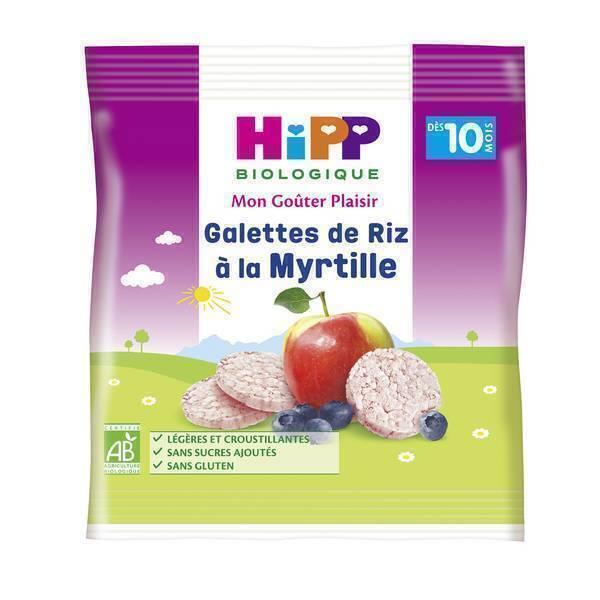 HiPP - Galettes de riz a la myrtille 30g