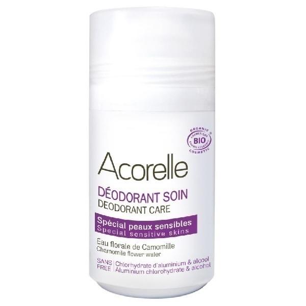 Acorelle - Déodorant spécial Peaux sensibles - Roll-on de 50 ml