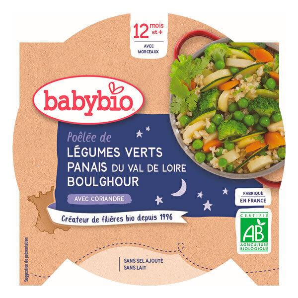 Babybio - AssietteBonne Nuit Légumes verts Panais Boulghour dès 12m