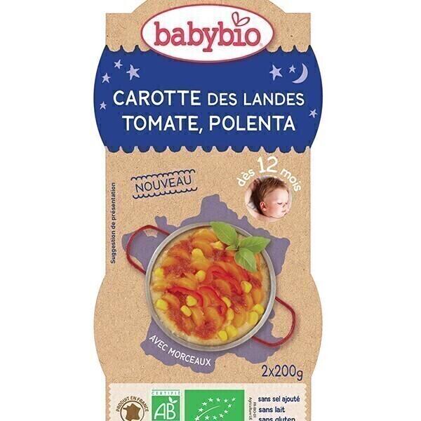 Babybio - BolsBonne Nuit Carotte Tomate Polenta dès 12m