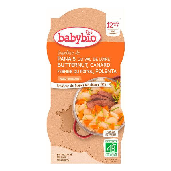 Babybio - BolsPanais Courge Butternut Canard Polenta 2 x 200g - Dès 12