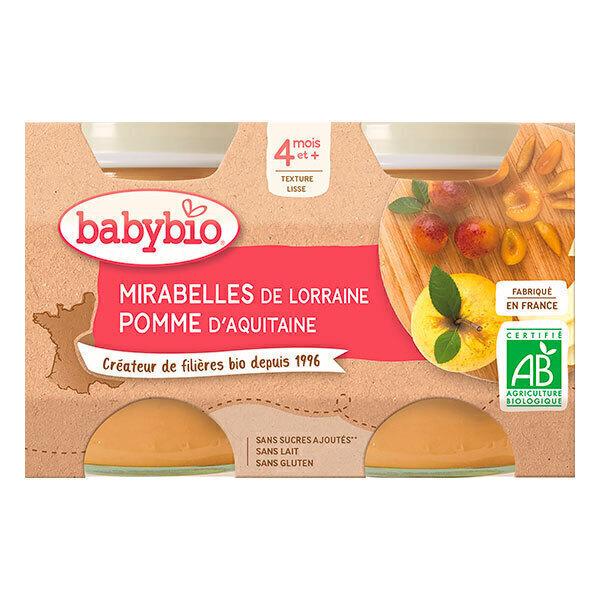 Babybio - Petits potsMirabelle Pomme dès 4m 2x130g