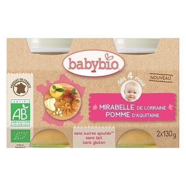 Babybio - Petits potsMirabelle Pomme dès 4m