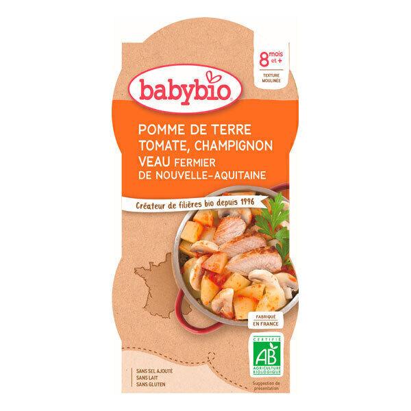 Babybio - Pomme de terre Tomate Champignon Veau 2 x 200g