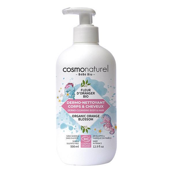 Cosmo Naturel - Gel moussant corps et cheveux bébé 50cl