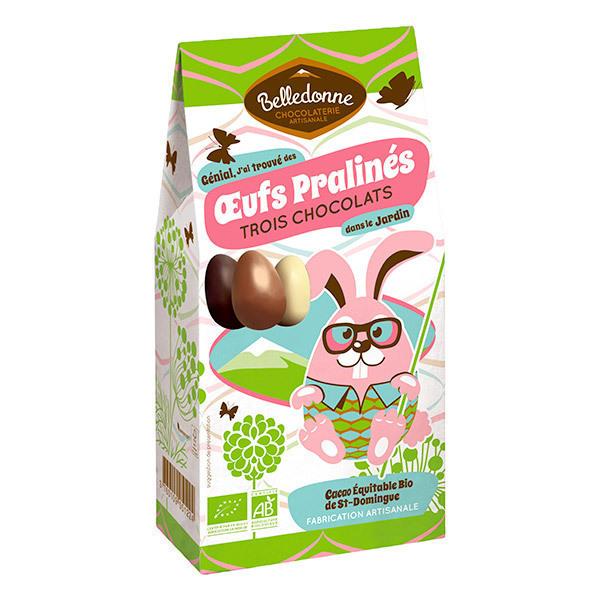 Belledonne - Oeufs pralinés aux 3 chocolats 100g