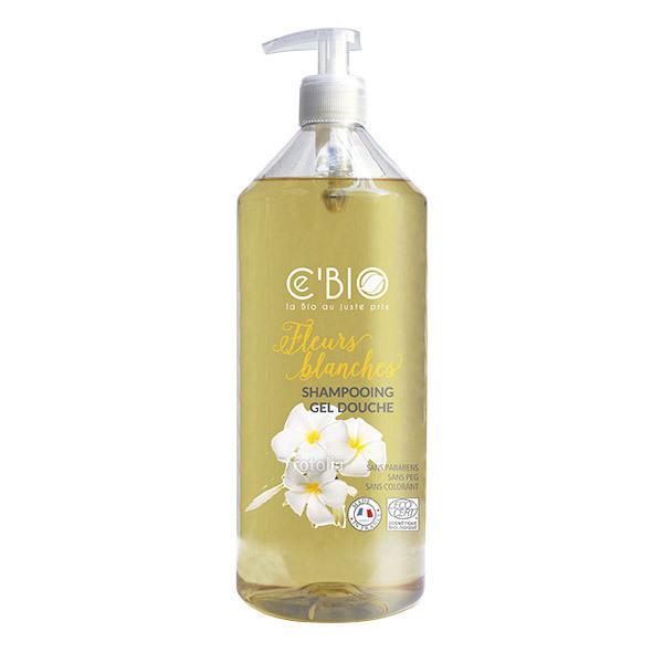 Ce'BIO - Shampooing et douche Fleurs blanches 1L