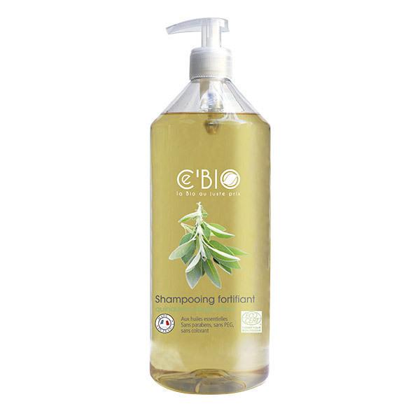 Ce'BIO - Shampooing fortifiant Quinquina Sauge Citron 1L