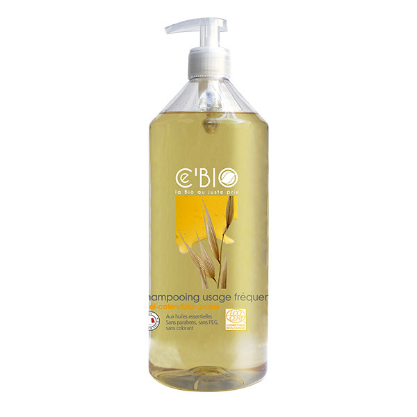 Ce'BIO - Shampooing usage fréquent Miel Calendula Avoine 1L