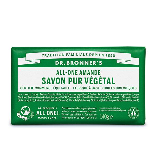 Dr Bronner's - Pain de savon Amande 140g