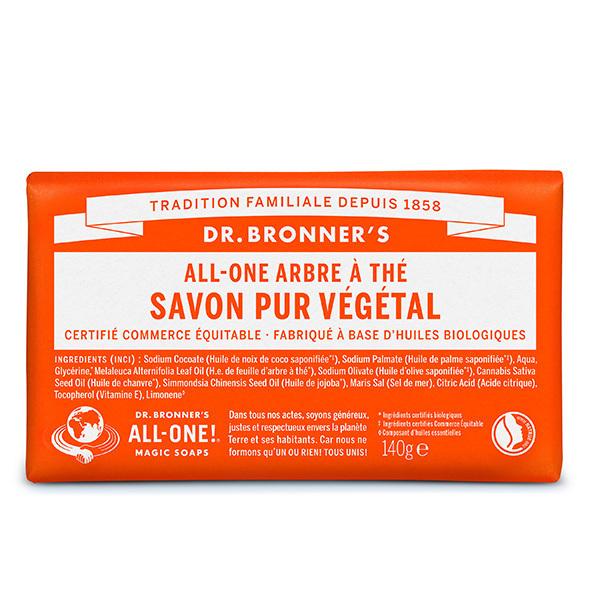 Dr Bronner's - Pain de savon Arbre à thé 140g