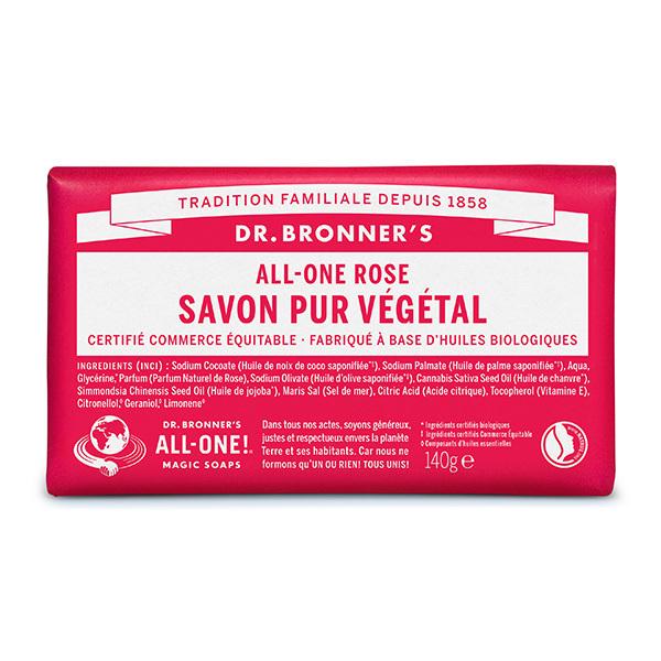 Dr Bronner's - Pain de savon Rose 140g