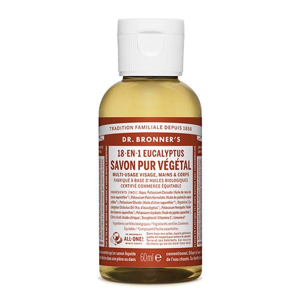 Dr Bronner's - Savon liquide Eucalyptus 60ml