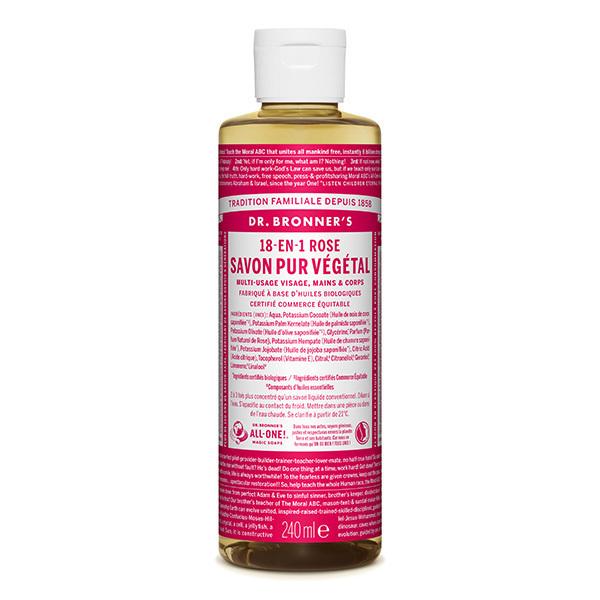 Dr Bronner's - Savon liquide Rose 240ml