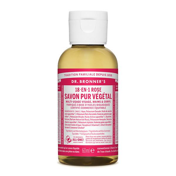 Dr Bronner's - Savon liquide Rose 60ml