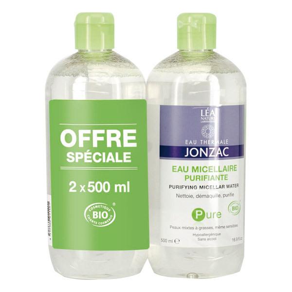 Eau Thermale Jonzac - Lot de 2 eaux micellaires purifiantes 2 x 500ml