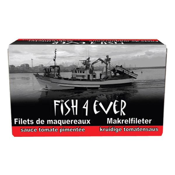 Fish4Ever - Filets de maquereaux à la sauce tomate pimentée bio - 125 gr