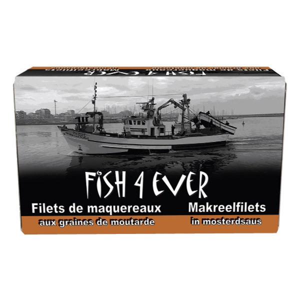 Fish4Ever - Filets de maquereaux à la moutarde à l'ancienne bio - 125g