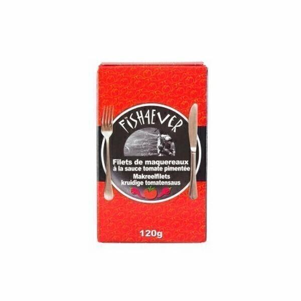 Fish4Ever - Filets de maquereaux à la sauce tomate pimentée bio 120g