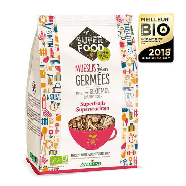 Germ'line - Muesli de céréales germés superfruits 350gr